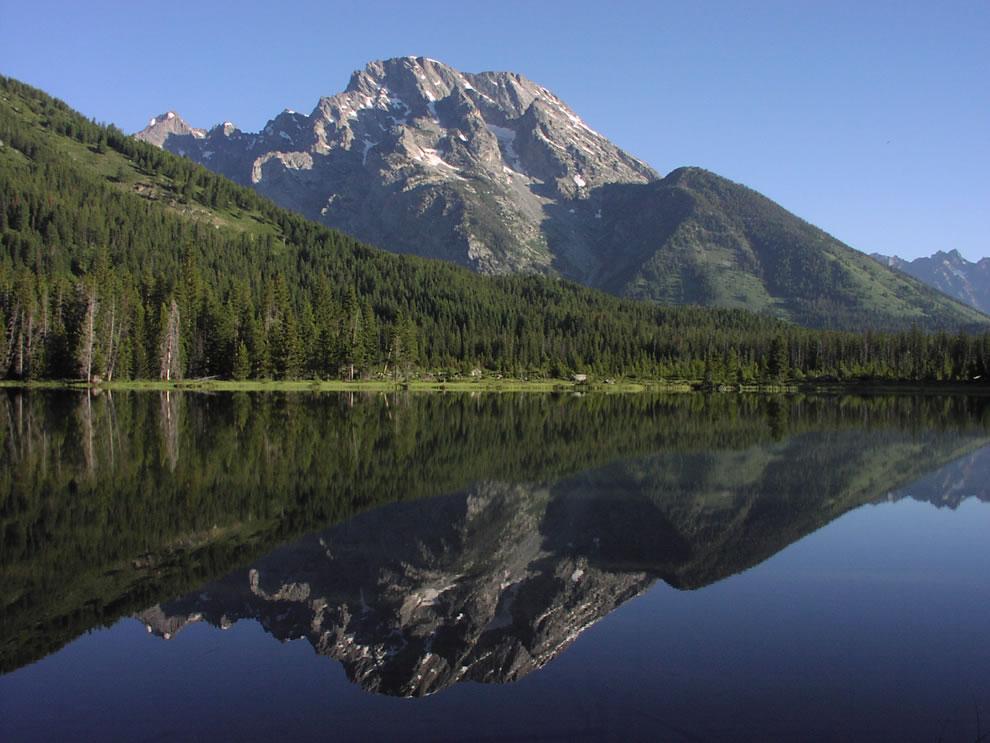String Lake with Mount Moran reflection