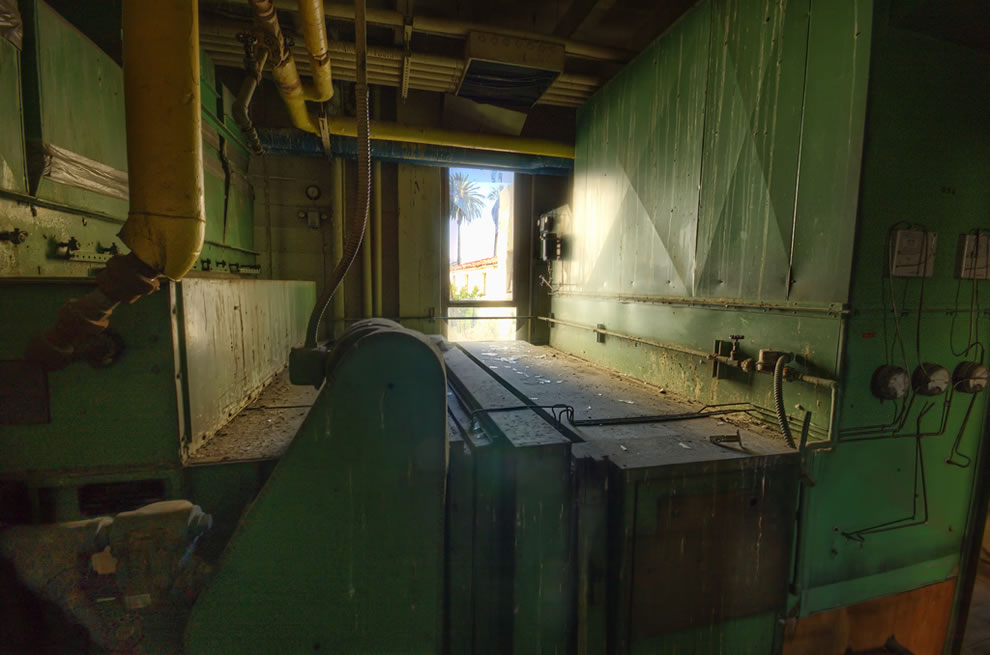Boiler room at haunted Linda Vista, an abandoned hospital to be a senior living center