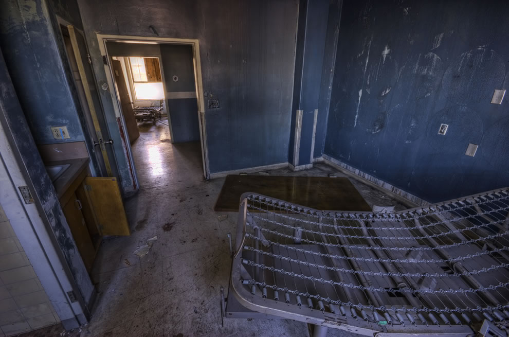 Grandpa's future room at haunted hospital in Los Angeles, California