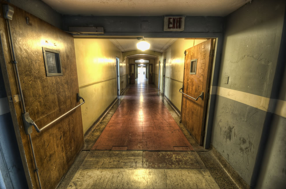 This way please in abandoned haunted Linda Vista hospital, future home to senior citizens