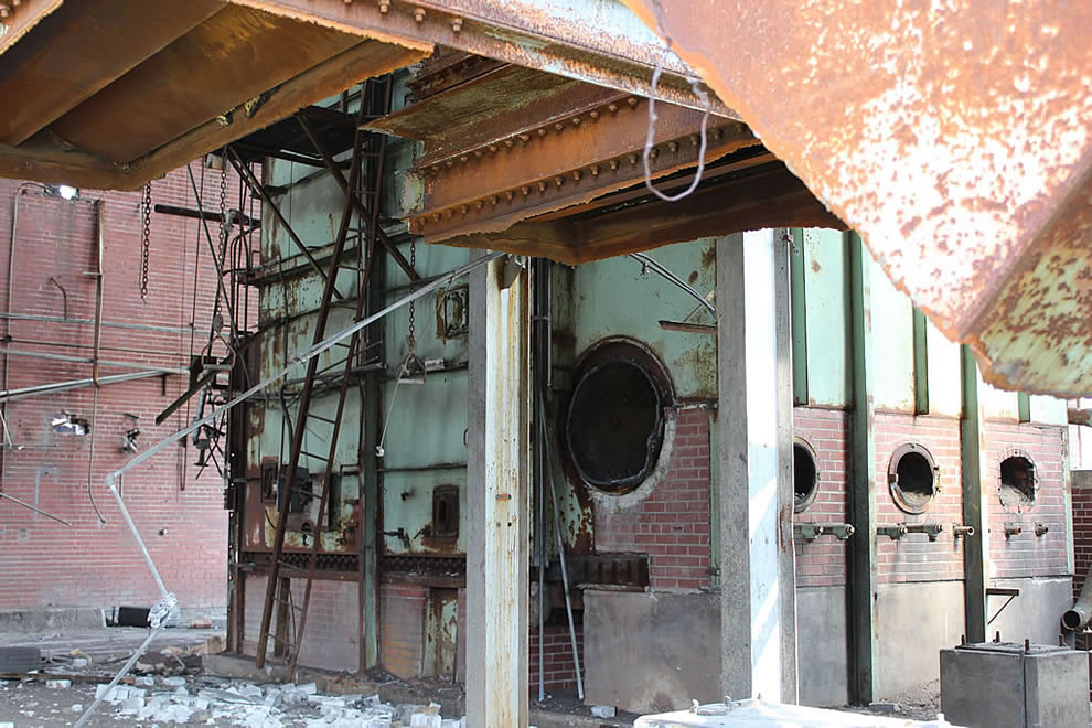 1st stop, nightmare on elm street boiler room also last stop busted head open on rust at abandoned Emge Food Processing Plant