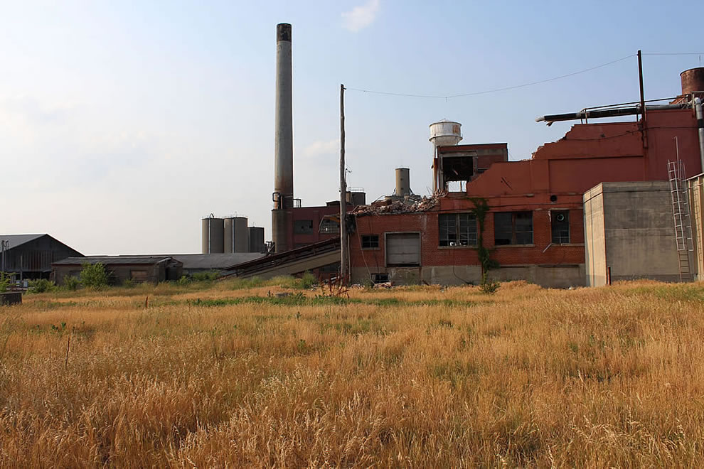 Abandoned, partly demolished, Emge Food Processing plant