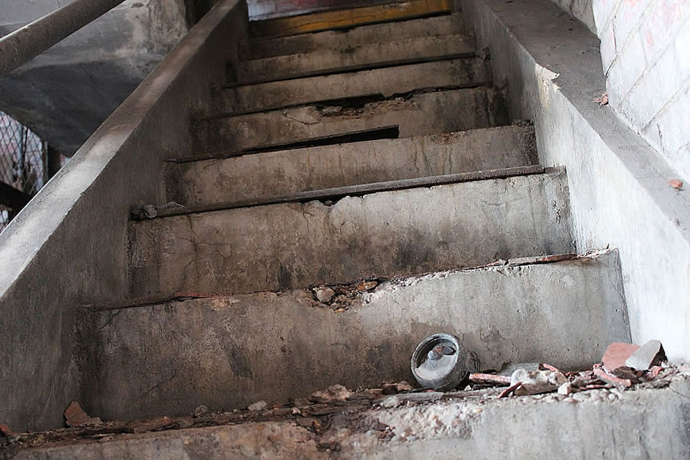 Condition of stairs at defunct Emge Food factory