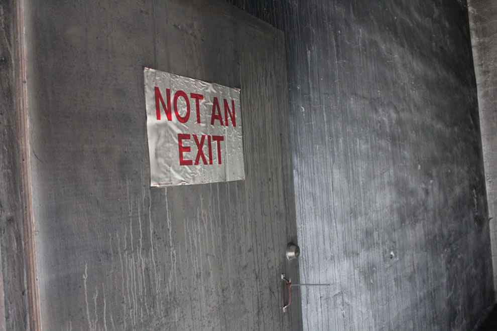 Not an exit at defunct Emge Food factory