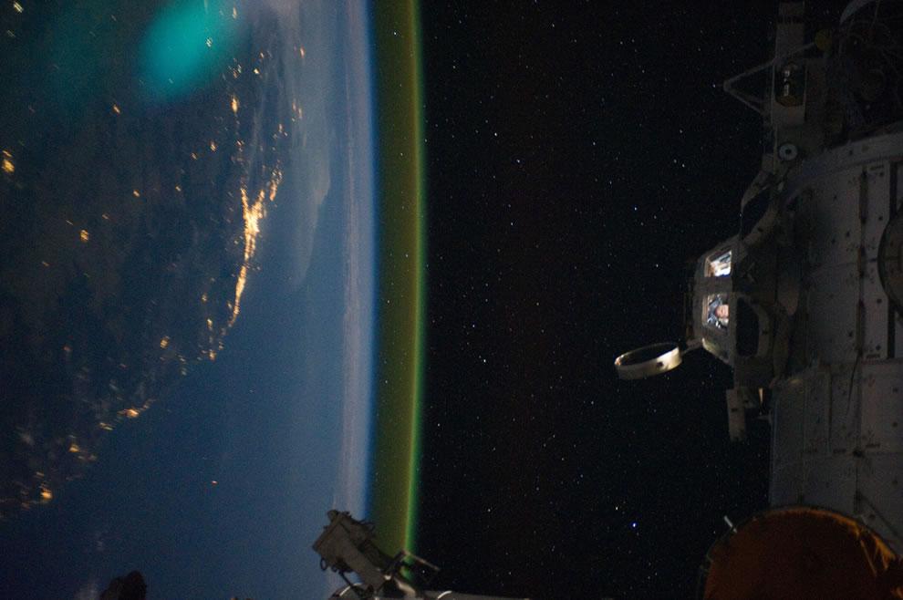 Sideways Over Australia at Night via International Space Station