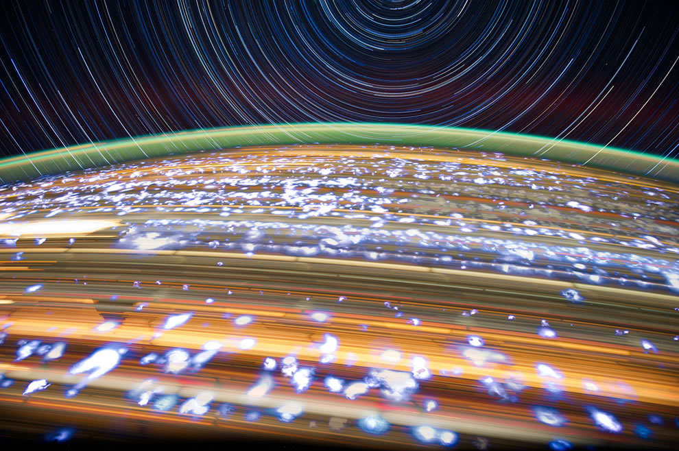 Astronaut Don Pettit Stunning star trails