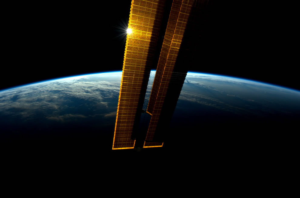 The terminator, the line between day and night, as seen from the ISS