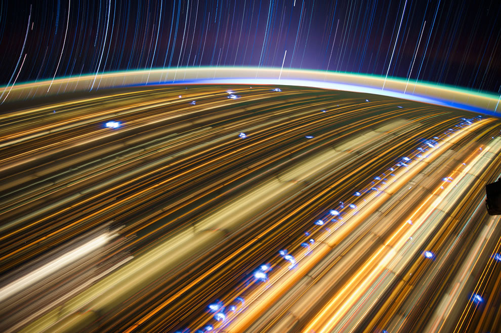 What Earth looks like at night when orbiting at 17,000mph