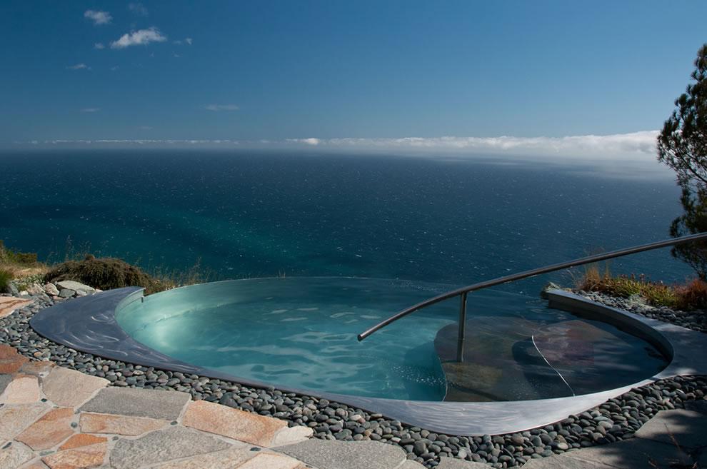 Infinity pool hotter than any bath Post Ranch Inn honeymooning in California