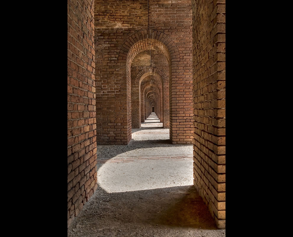 Neverending arches, Fort Jefferson, Dry Tortugas National Park, Florida