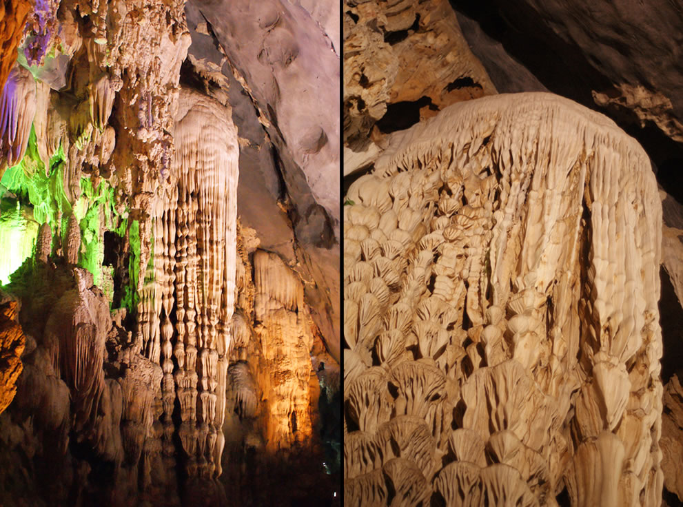Vietnam Paradise Cave formations