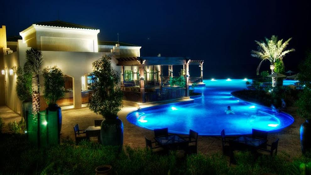 infinity pool at the Desert Islands Resort on Sir Bani Yas Island, Abu Dhabi
