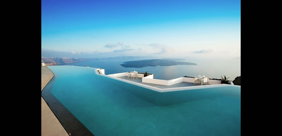 unknown location with heavenly infinity pool view