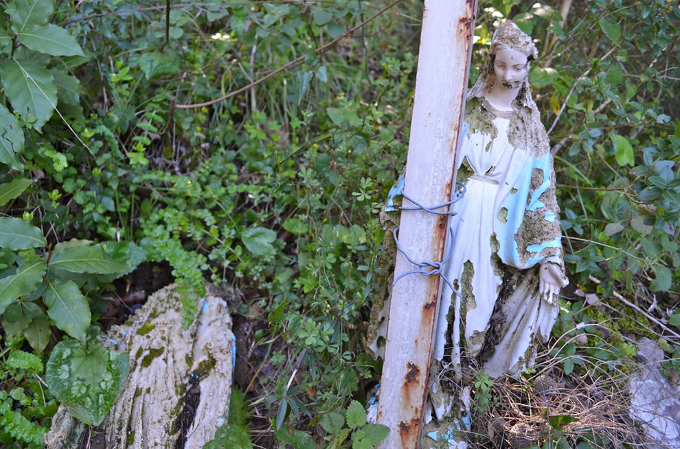 Decaying Station of Mary on Stairway to Heaven Lebanon