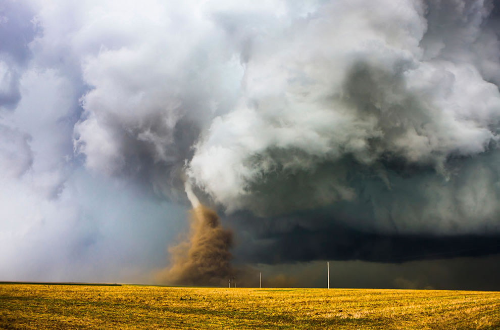 Dust Dance -- a spontaneous moment mother nature's fuy in Kansas - National Geo Travel Photo contest submission