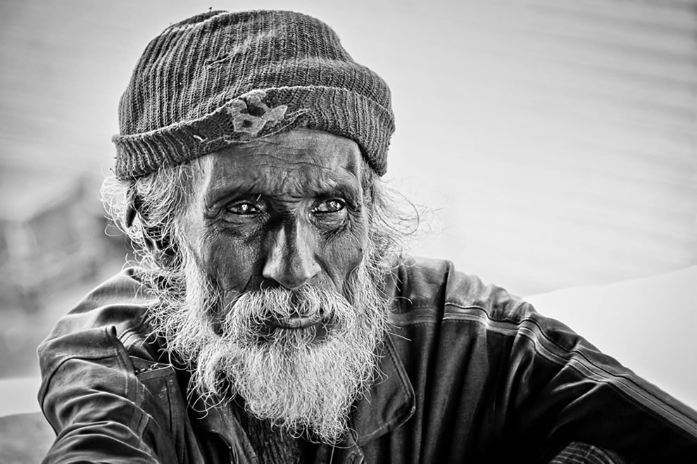 Reality Travel Portrait homeless beggar