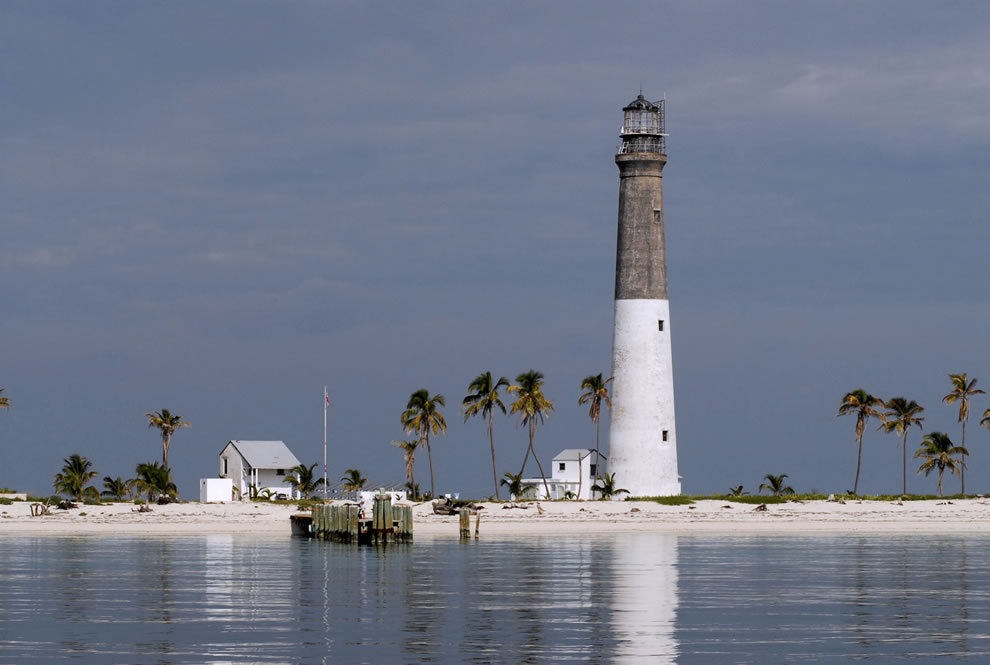 The Dry Tortugas Lighthouse on Loggerhead Key, Florida, U.S.A. The lighthouse was constructed in 1858
