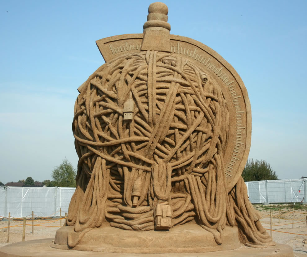 Tangled - Sand sculptures in Xanten