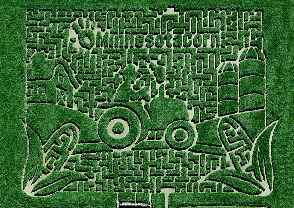 2012 corn maze theme at Sever's Corn Maze 2012