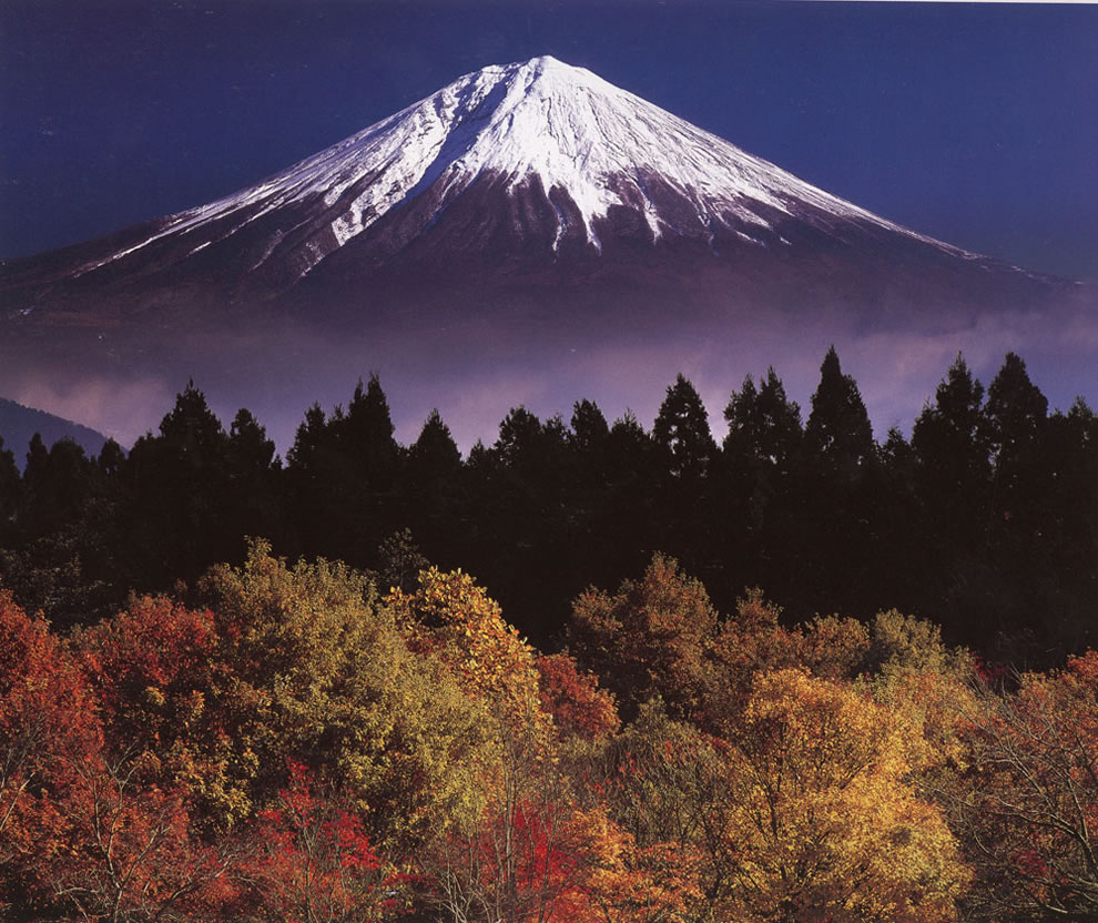 Autumn, Mount Fuji in the fall