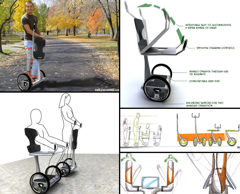 EAZ Disabled Mobility Device concept by designer Grayson Stopp
