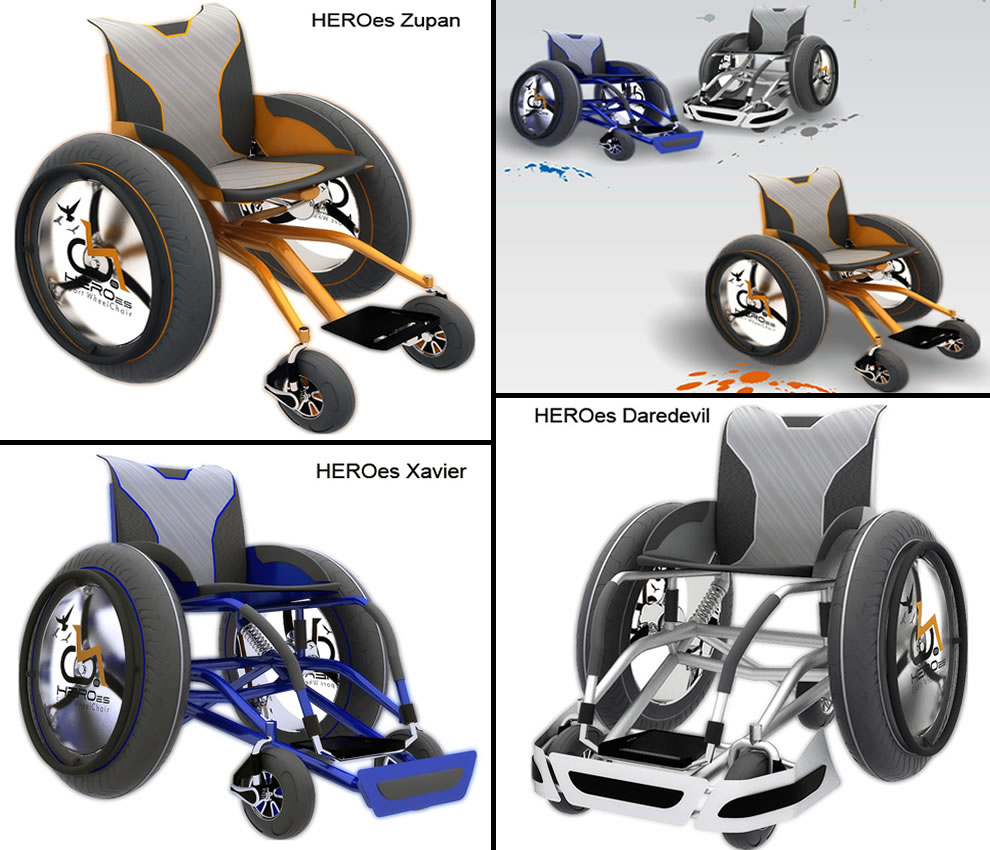 HEROes Series of Sport Wheelchairs by designer Jairo da Costa Junior wheelchair design concepts