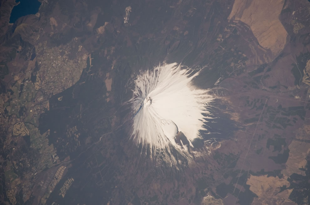 Mount Fuji as seen from the International Space Station --ISS