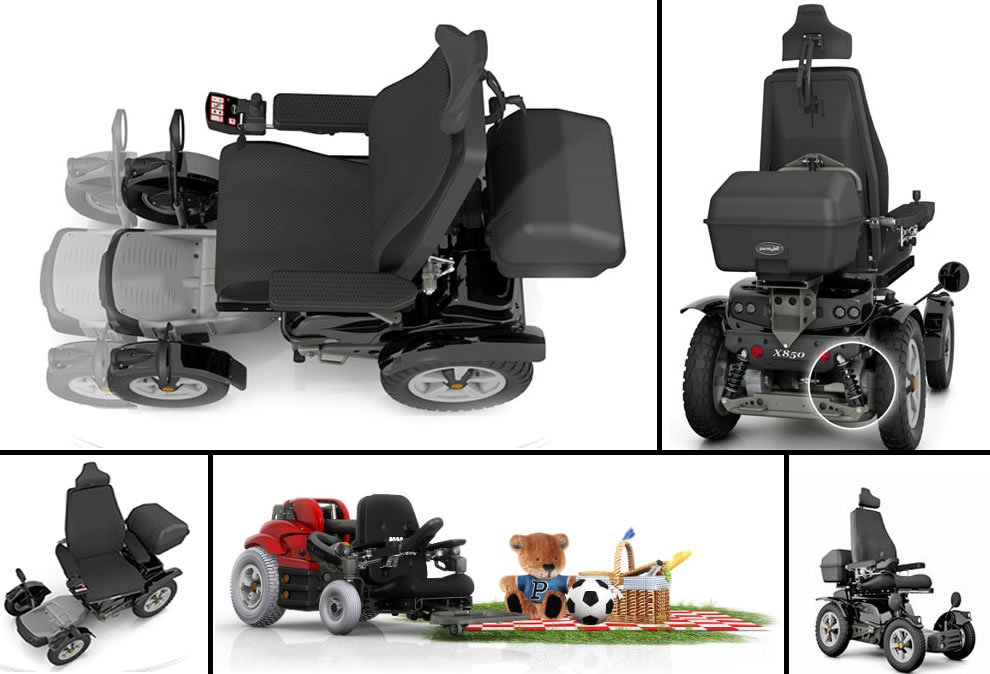 Permobil X850 Corpus All-Terrain Power Wheelchair design concepts