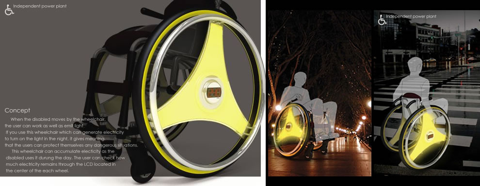 Roll Charge Light Protect design concept wheelchair project wheelchair design concepts