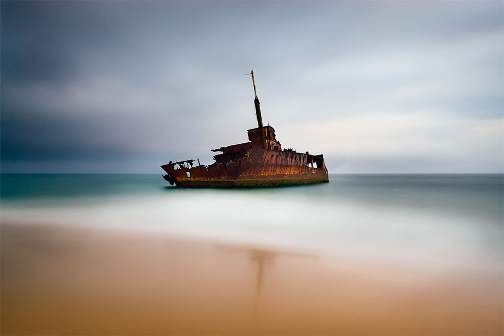 Sygna shipwreck on Stockton Beach, Australia