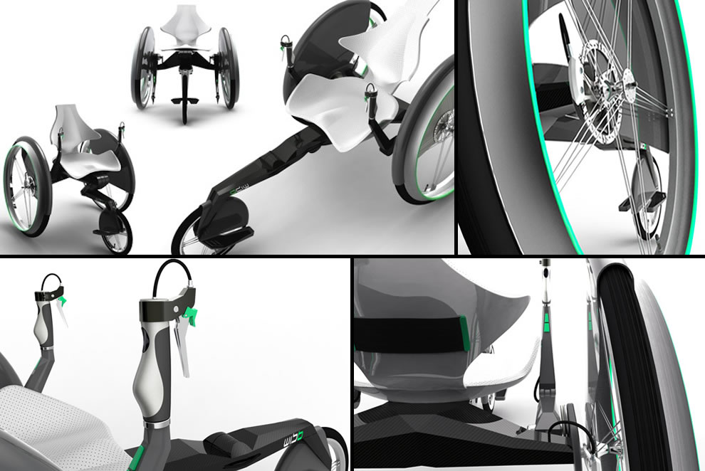 WISB handbike concept designed by Bär Claudia wheelchair design concepts