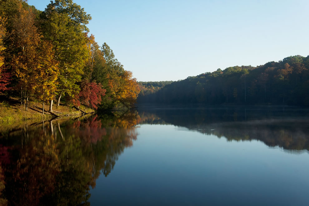 Autumn at Hocking Hills Rose Lake