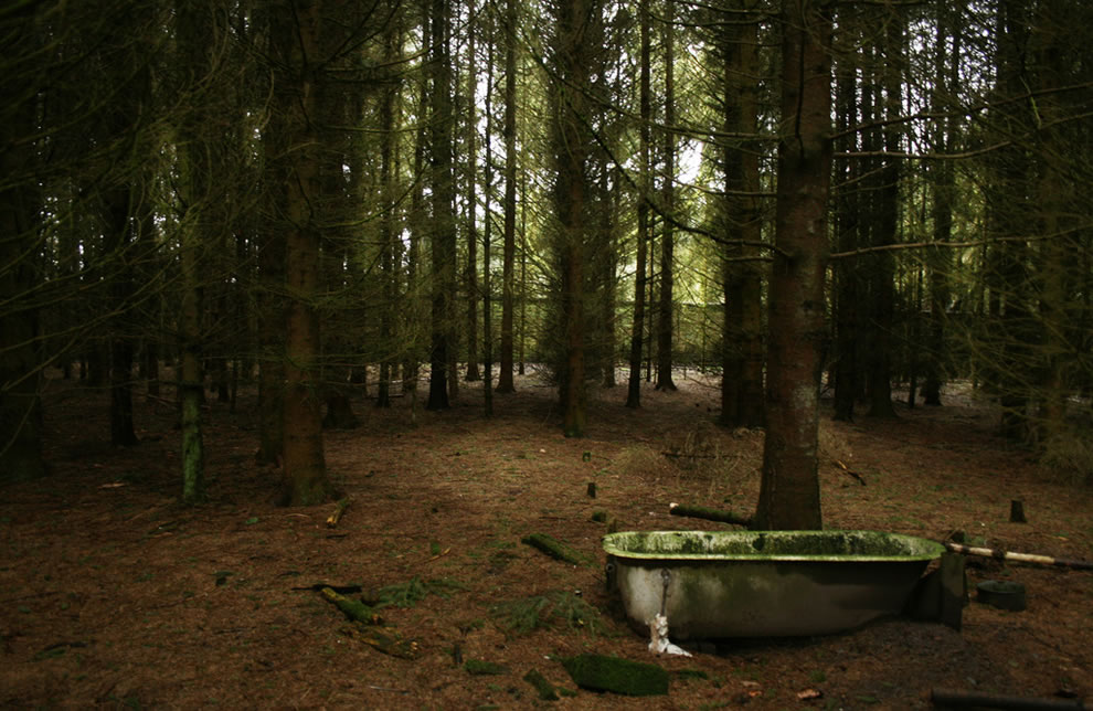 First Ghost films, woods in Lockerbie, Scotland