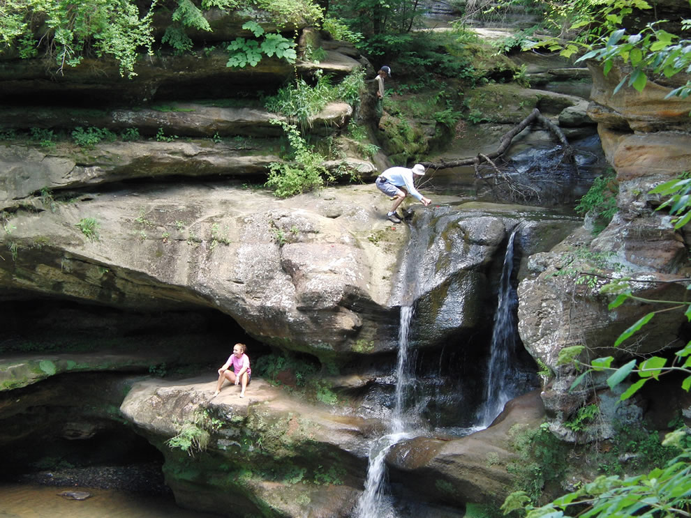 Old Man's Cave in July