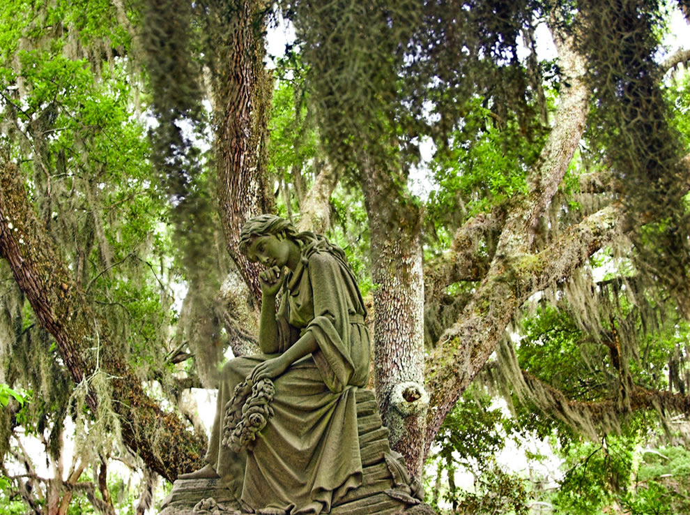 Thinking For Eternity. She was so serene looking amid the spanish moss