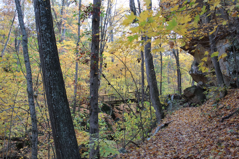 Trail out of Rim Rock, Pounds Hollow, Garden of the Gods