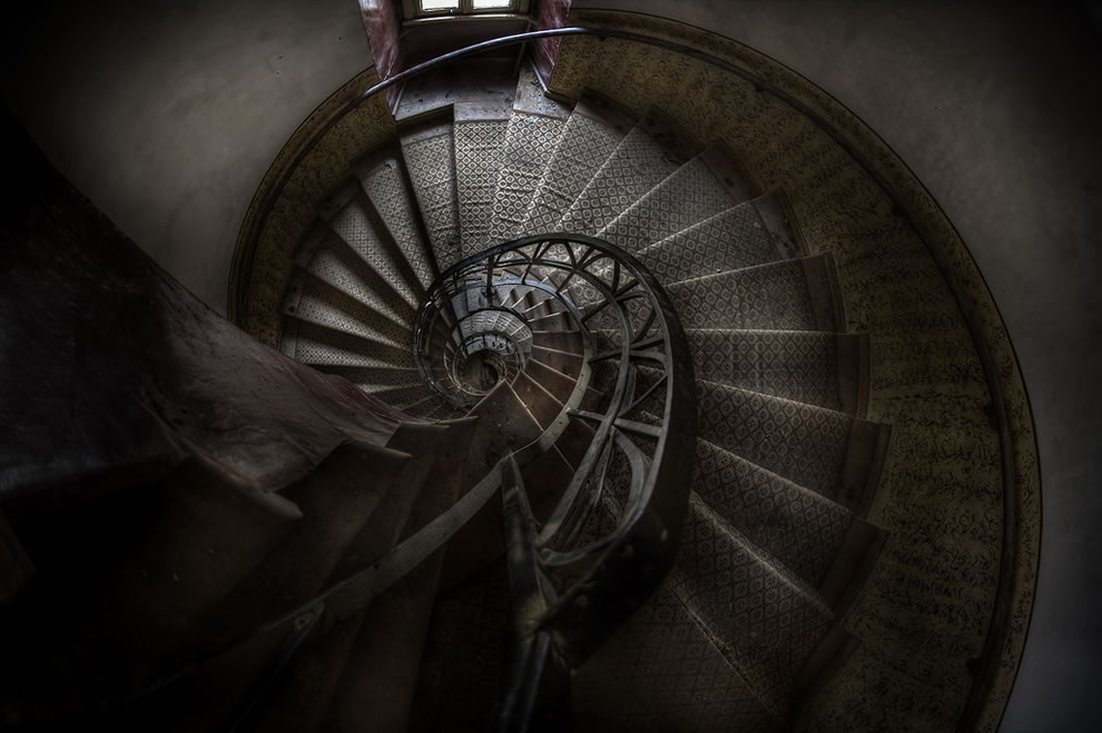 Winding staircase at Abandoned monastery