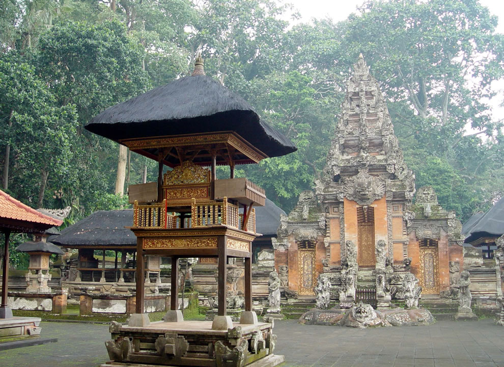 Balinese temples, Dalem Agung Padantegal Temple in Monkey Forest, Ubud, Bali, Indonesia