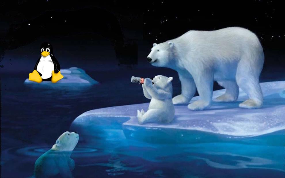 Coke bears and tux, Happy holidays