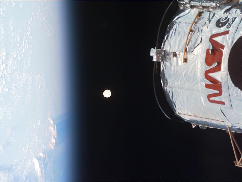 Earth, Moon, Hubble