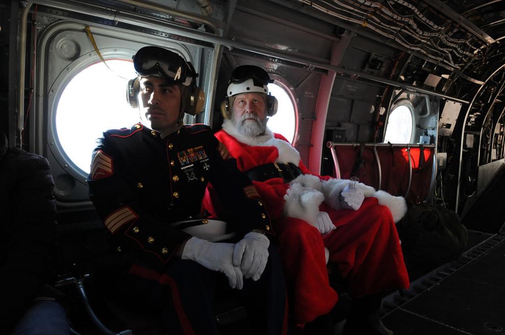Marines provide special escort for Santa