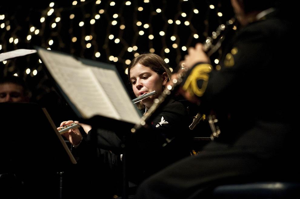 Musician 3rd Class Danielle Clark of the U.S. 7th Fleet Band