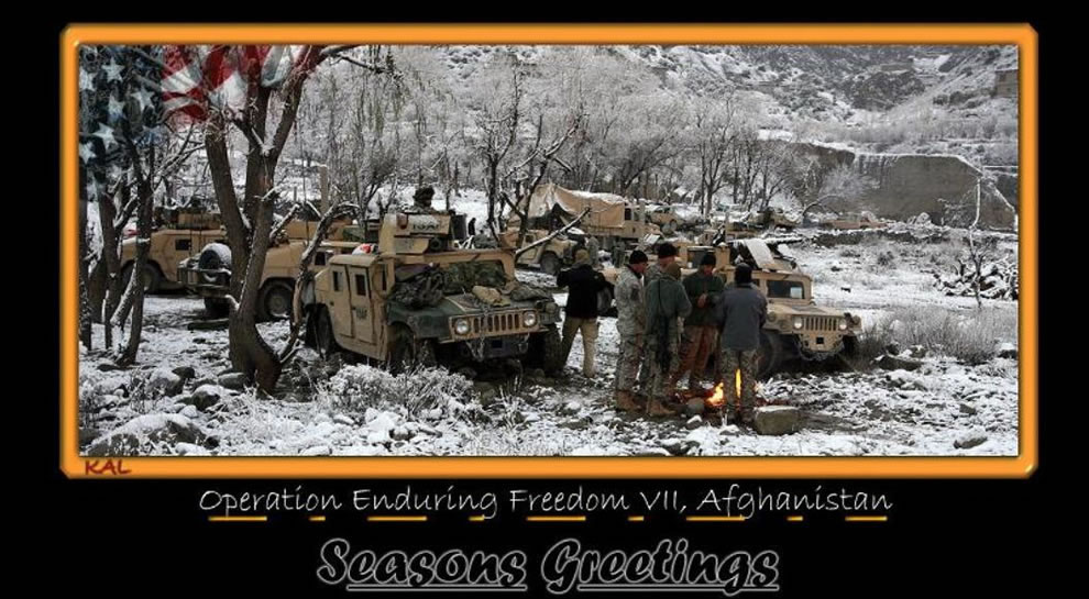 Operation Enduring Freedom Afgahanistan wilderness holiday greetings