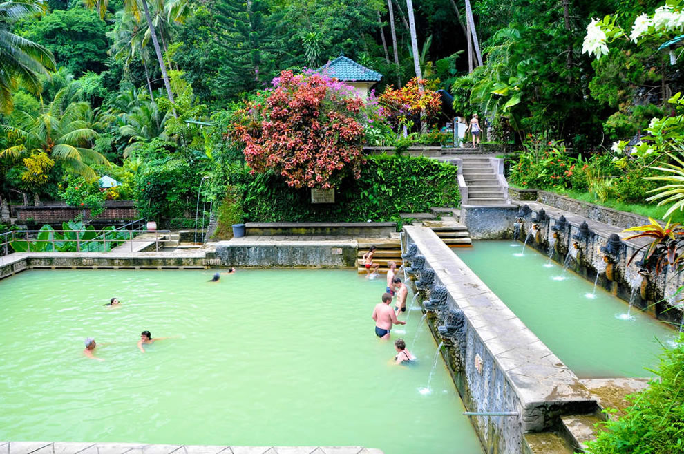 Sacred hot springs 'Air Panas' of Banjar