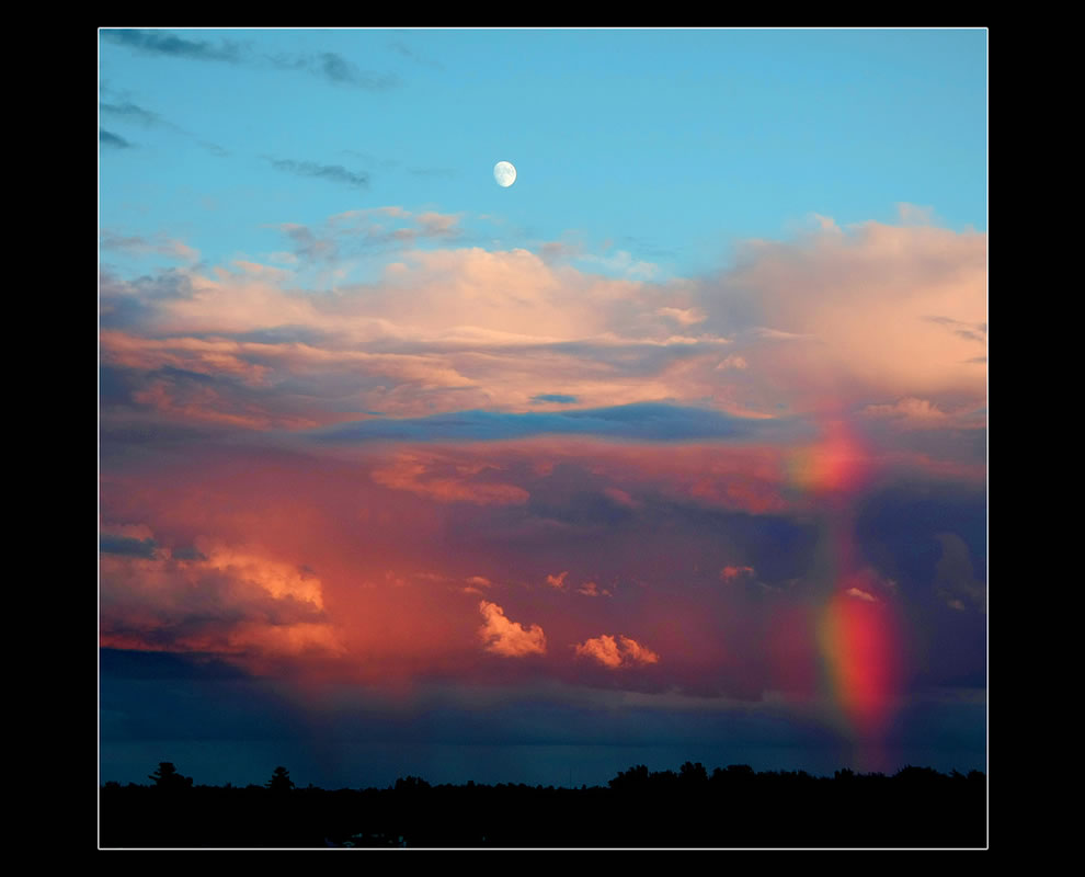 Stormy Sunset Moon-bow