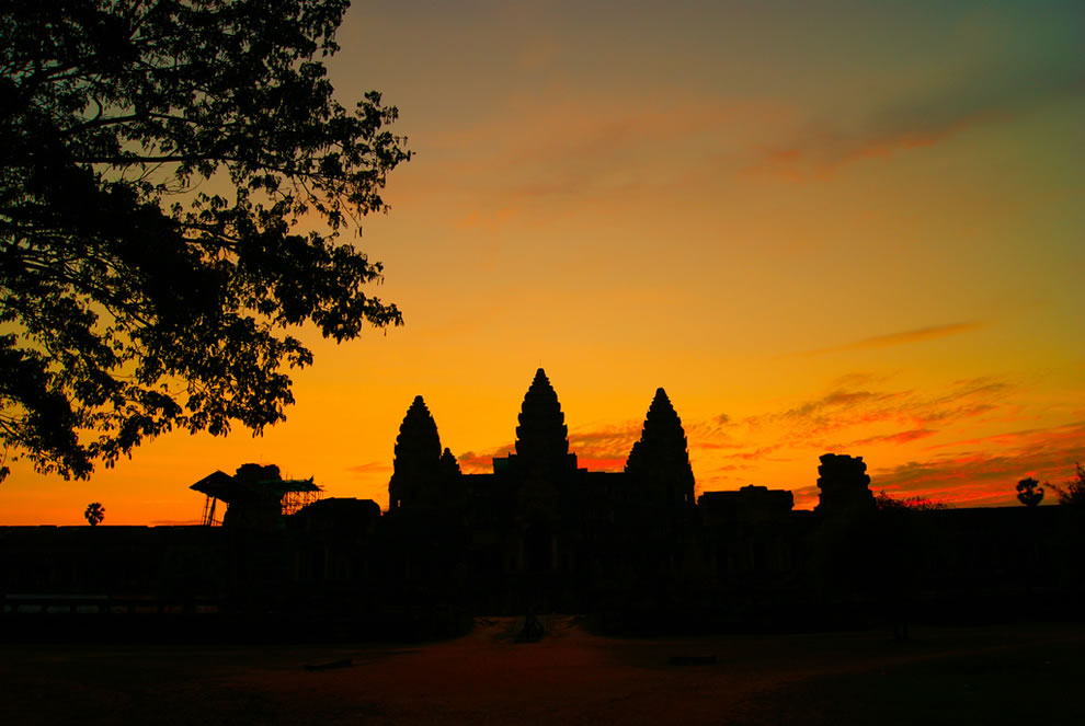 Sunset over Angkor Wat, Siem Reap, Cambodia