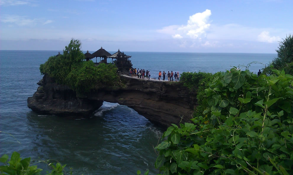 Temple natural bridge at Tanah Lot