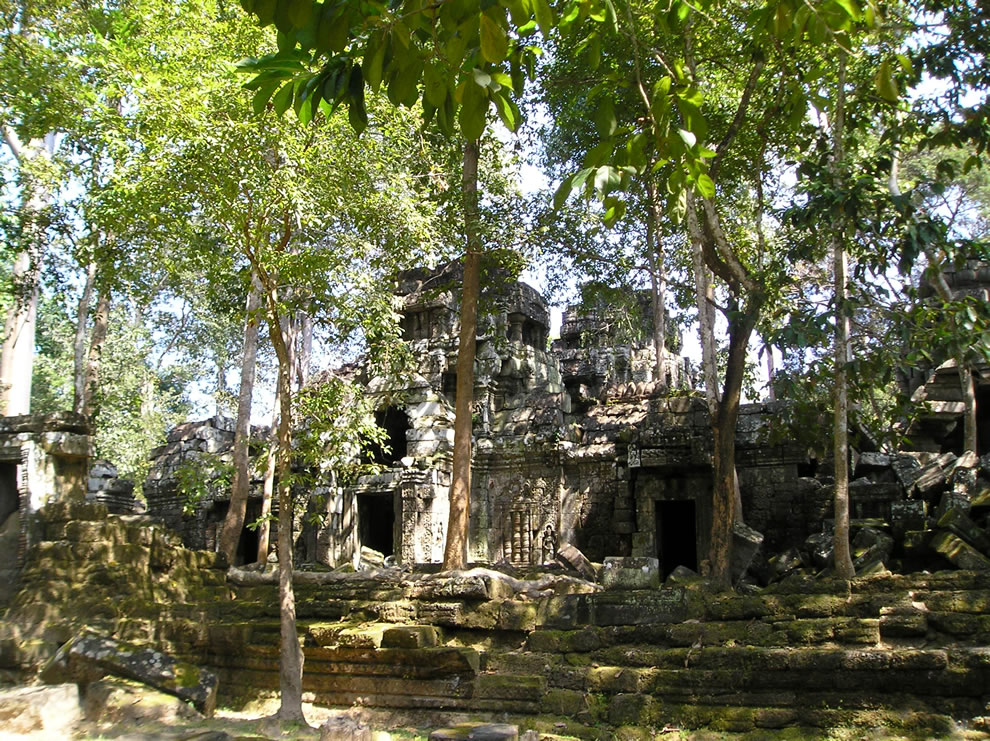 The Ta Nei temple in Angkor, Cambodia
