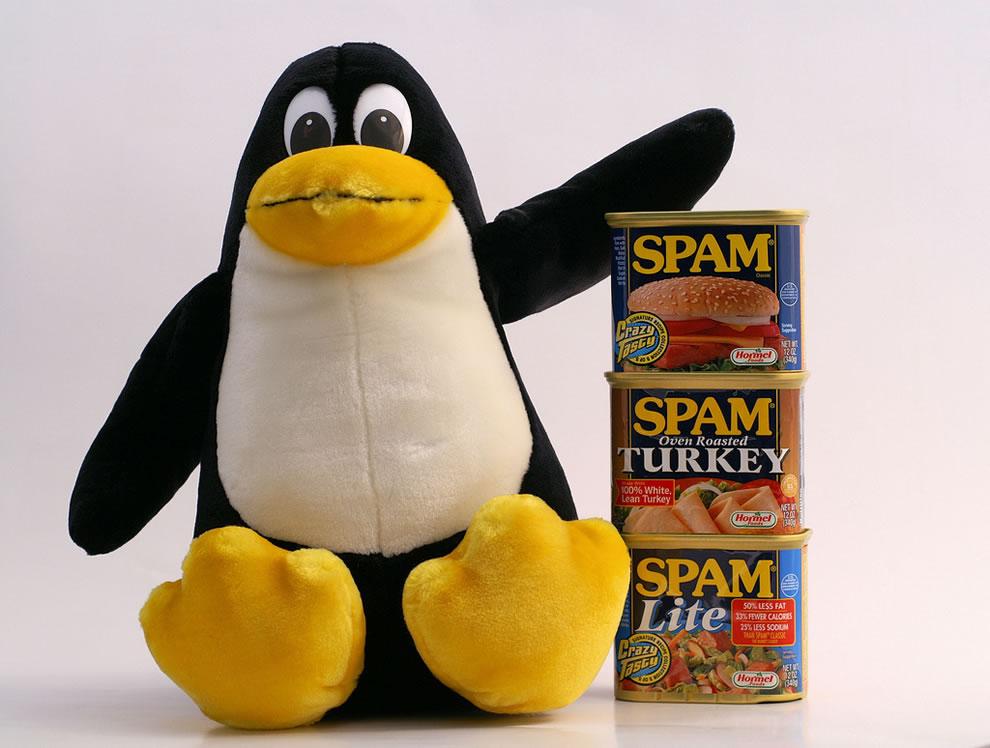 Tux handles Spam