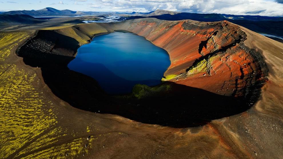 Arctic Volcanic Crater Lake